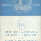Photo:Front cover of programme for the closing ceremony at the 1948 London Olympics